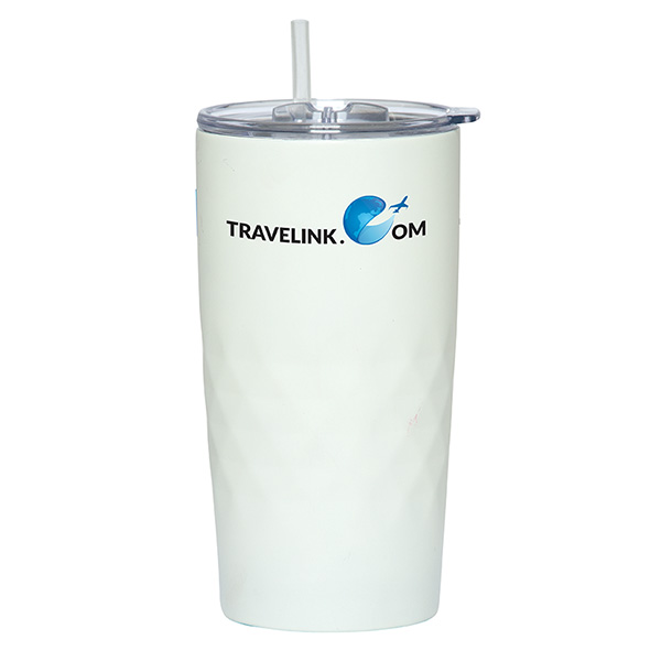 Montego 600 Ml. (20 Fl. Oz.) Travel Tumbler With Straw, DA9612, 1 Colour Imprint
