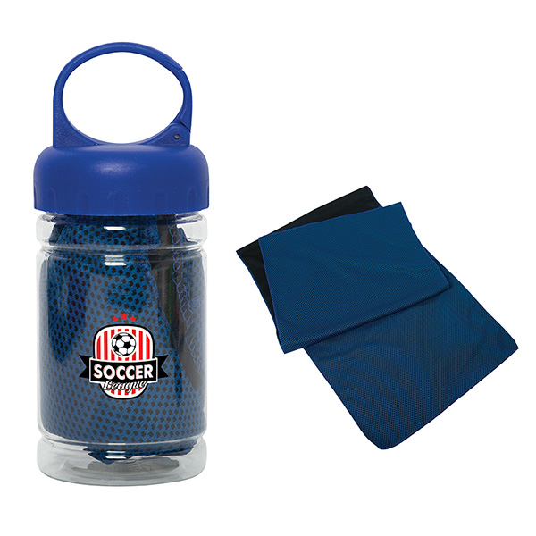 Krienes Cooling Towel In Container, N9457, 1 Colour Imprint