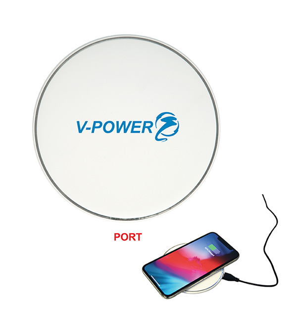Quincy Induction Wireless Charger, CU9525, 1 Colour Imprint