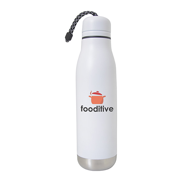 Burble 500 Ml. (17 Fl. Oz.) Stainless Steel Bottle, WB9721, 1 Colour Imprint