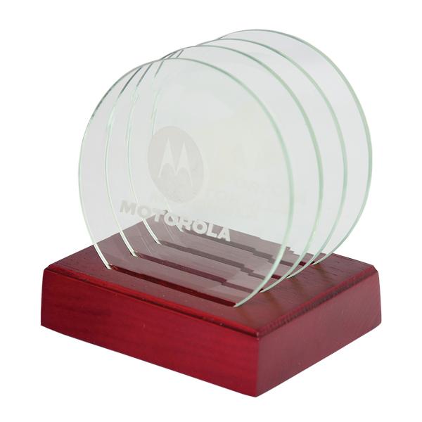 Glass Coaster Set, CO8269, 1 Colour Imprint