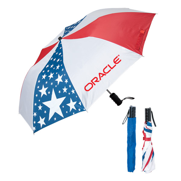 Folding Usa Umbrella, UF704, 1 Colour Imprint