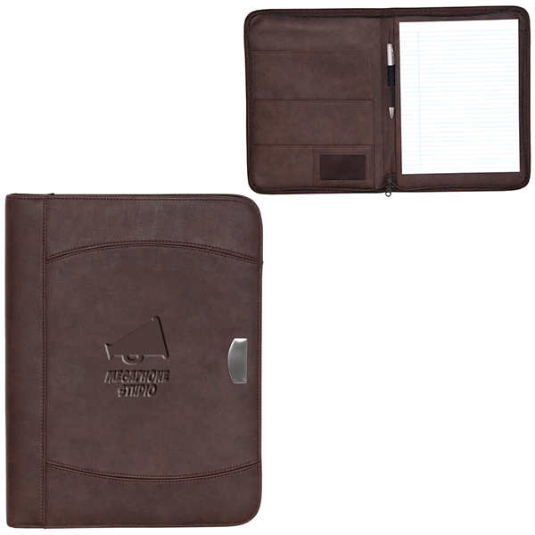 Zippered Notebook Portfolio, BL5272, 1 Colour Imprint