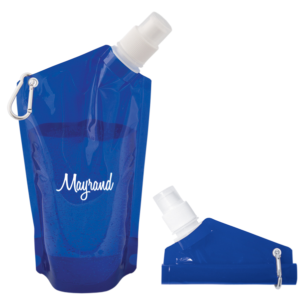 Folding 591 Ml. (20 Fl. Oz.) Water Bag, WB8314, 1 Colour Imprint