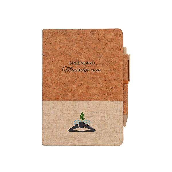 Montado Cork And Linen Journal, CA9788, 1 Colour Imprint