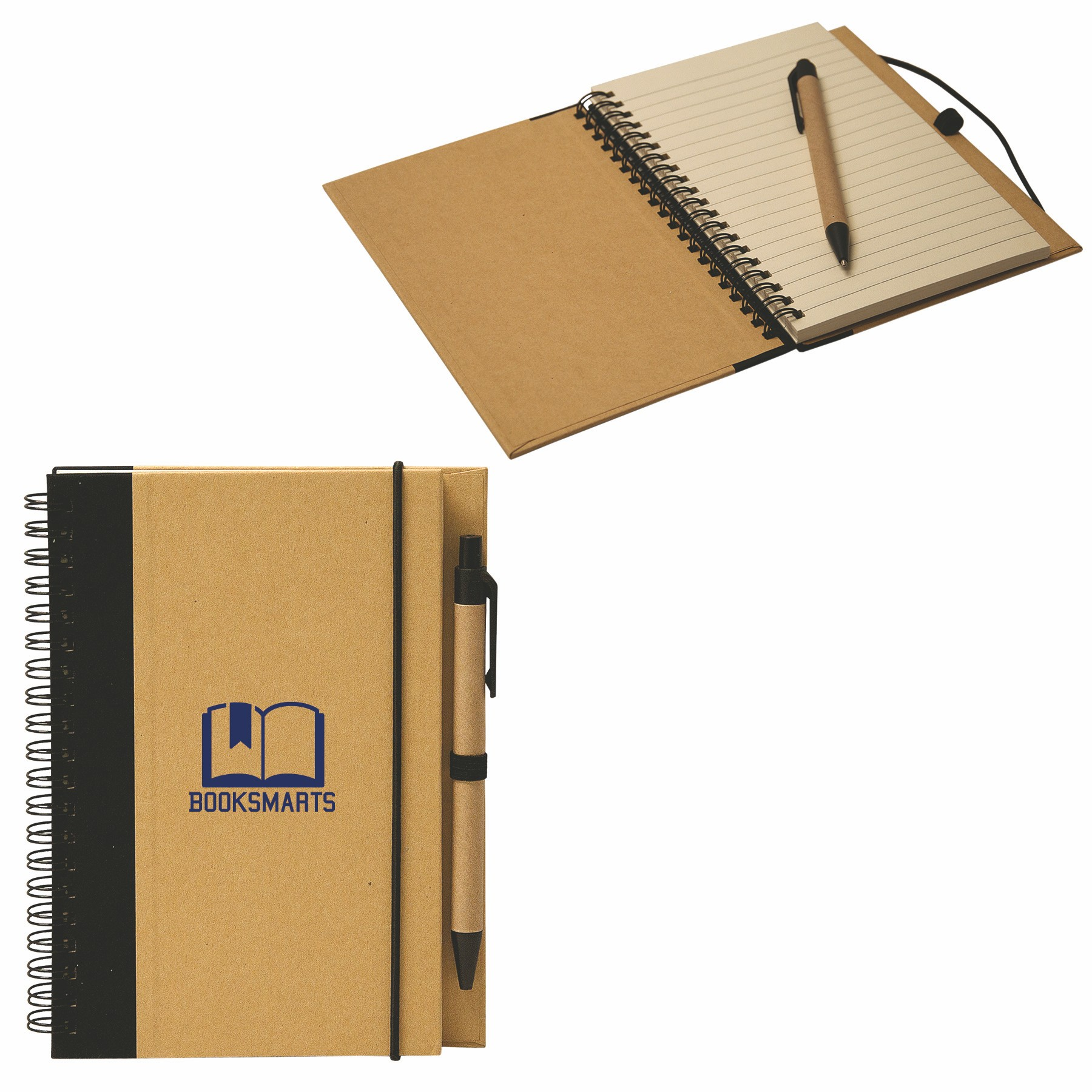 Recycled Cardboard Notebook, RP7340, 1 Colour Imprint