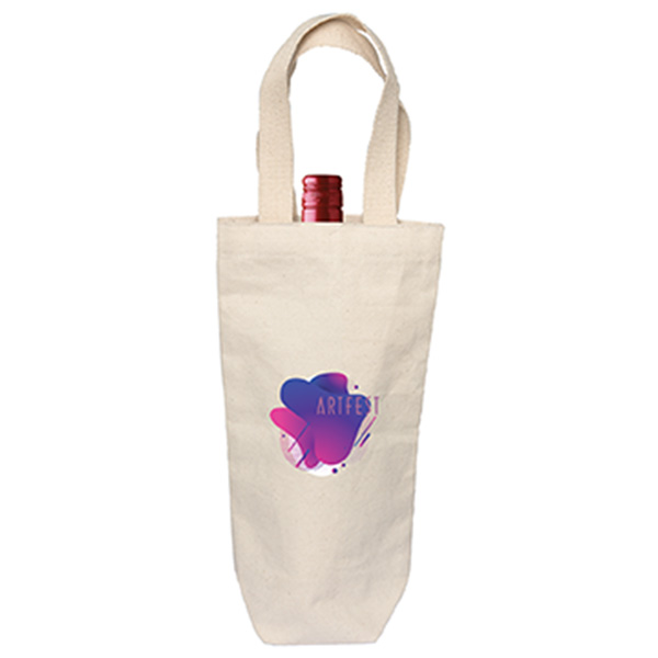 Rhone Valley Cotton Wine Bag, E8968, 1 Colour Imprint