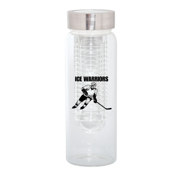 500 Ml. (17 Fl. Oz.) Water Bottle With Fruit Infuser, WB8437, 1 Colour Imprint