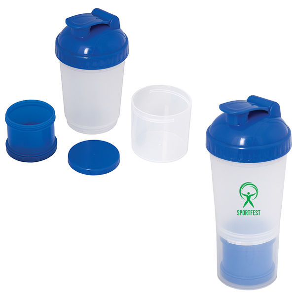 Fitness Fanatic 600 Ml. (20 Fl. Oz.) Shaker Bottle, WB6434, 1 Colour Imprint