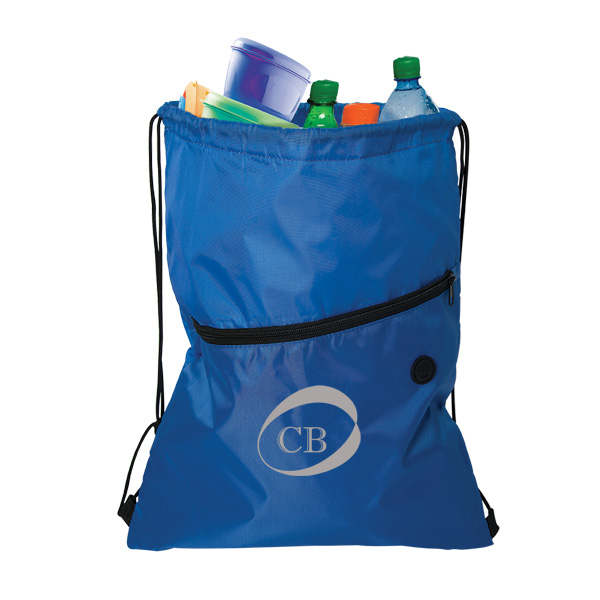 Akerley Insulated Drawstring Cooler Cinch, CB9178, 1 Colour Imprint