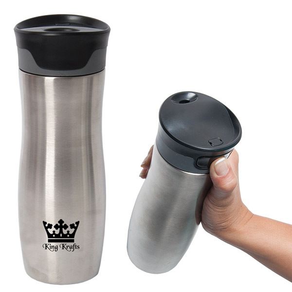 500 Ml. (17 Fl. Oz.) Leakproof Vacuum Travel Tumbler, WB8685, 1 Colour Imprint