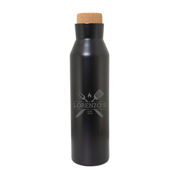 Wilson 620 Ml. (21 Fl. Oz.) Bottle With Cork Lid, WB9695, 1 Colour Imprint