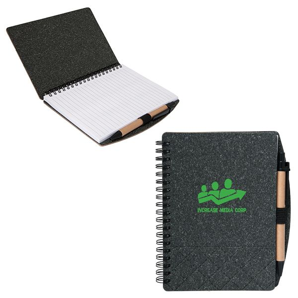 Geneva Cardboard Spiral Notebook, CA8677, 1 Colour Imprint