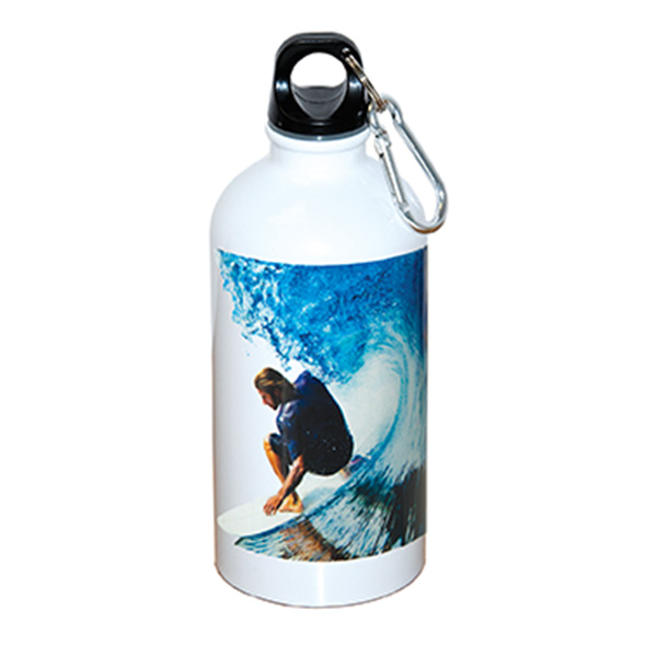 500 ml (17 fl. oz.) STAINLESS STEEL BOTTLE WITH CARABINER, WB4833, 1 Colour Imprint