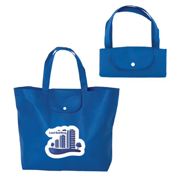 Go-Time Gatherer Folding Non Woven Tote Bag, NW6419, 1 Colour Imprint