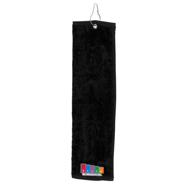 Tri-Fold Golf Towel, G2798, 1 Colour Imprint