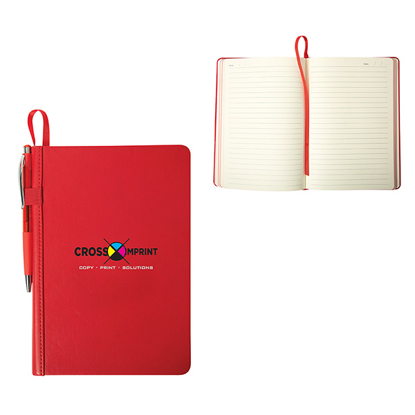 Lucca Pu Hard Cover Journal, CA9487, 1 Colour Imprint