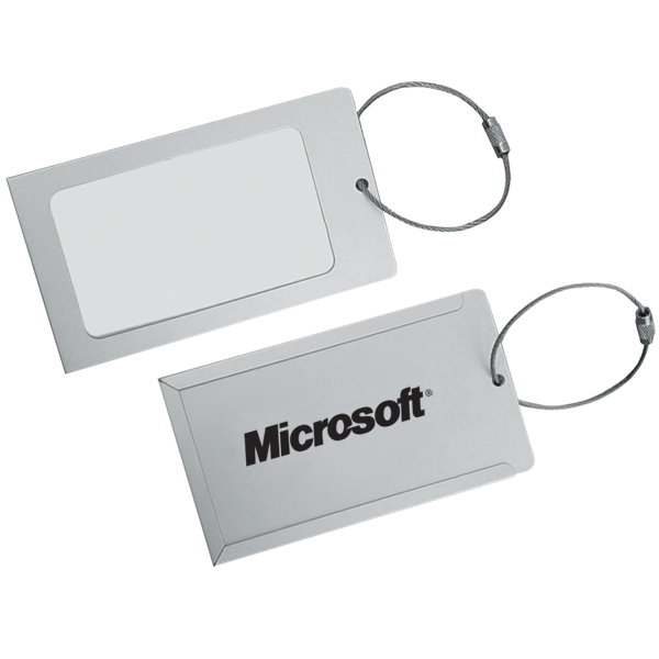 Aluminum Luggage Tag, M2757, 1 Colour Imprint