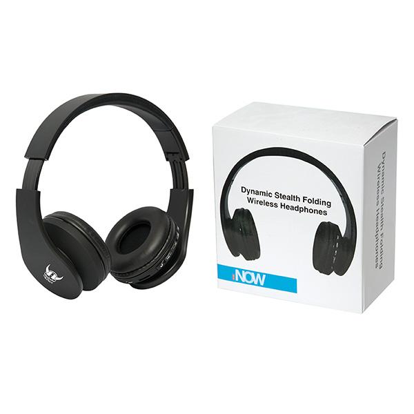 Dynamic Stealth Folding Wireless Headphones, CU9160, 1 Colour Imprint