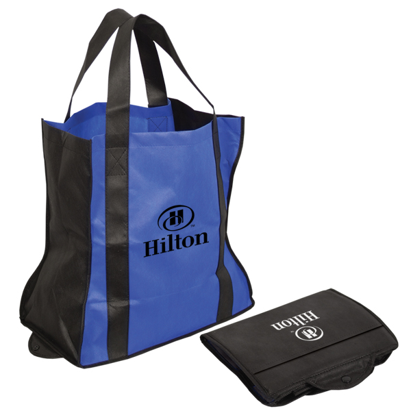 Folding Non Woven Tote Bag, NW4060, 1 Colour Imprint