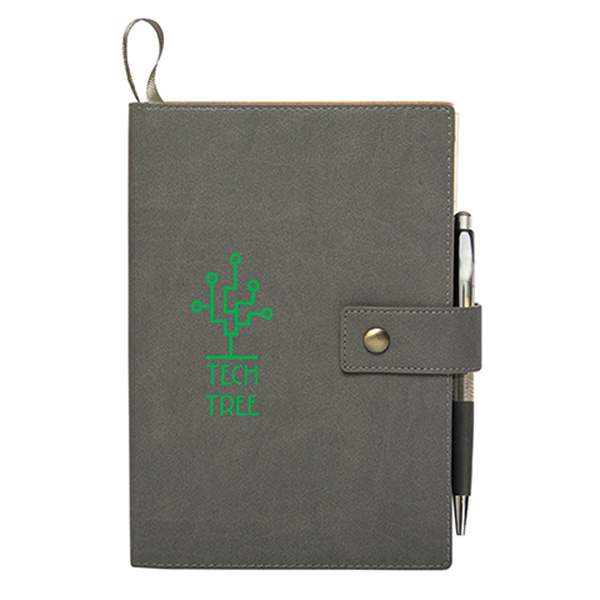 Dante Button Closure Journal, CA9511, 1 Colour Imprint