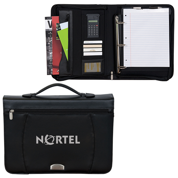 Zippered Notepad Binder, BL3292, 1 Colour Imprint