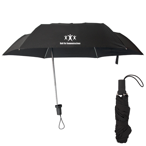Stay Centre Eccentric Folding Umbrella, UF8837, 1 Colour Imprint