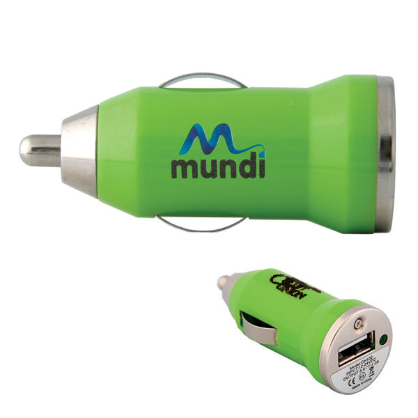 USB Car Charger, CU4906, 1 Colour Imprint