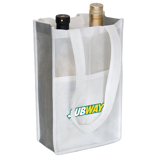Non Woven Two Bottle Wine Bag, NW4759, 1 Colour Imprint
