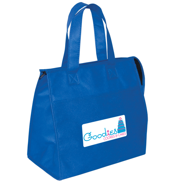 Non Woven Insulated Grocery Tote, NW5462, 1 Colour Imprint