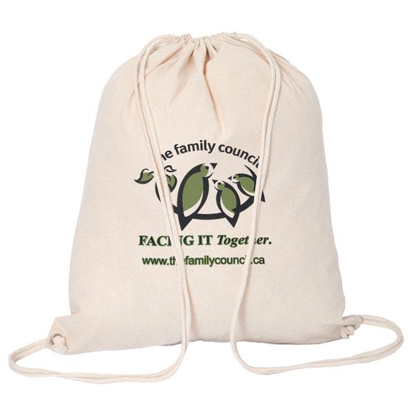 Cotton Drawstring Bag, E8429, 1 Colour Imprint
