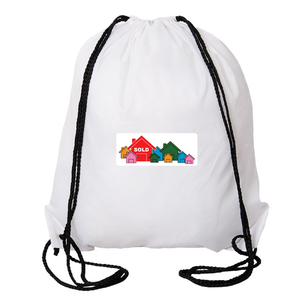 Aloha Drawstring Backpack, P8285, 1 Colour Imprint