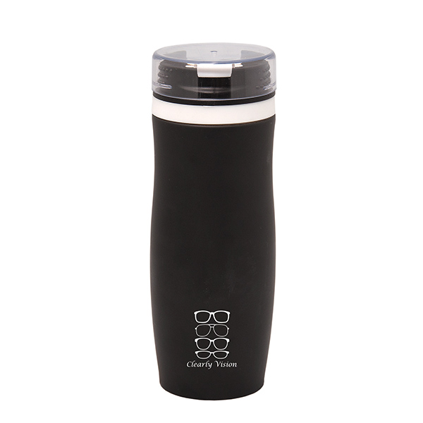Stealth Oasis 400 Ml. (13.5 Fl. Oz.) Vacuum Travel Tumbler, WB6405, 1 Colour Imprint