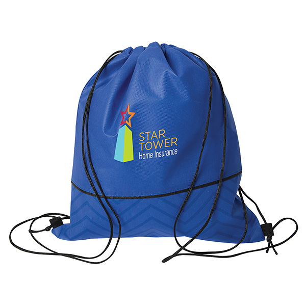 Tonal Non Woven Drawstring Bag, NW9690, 1 Colour Imprint