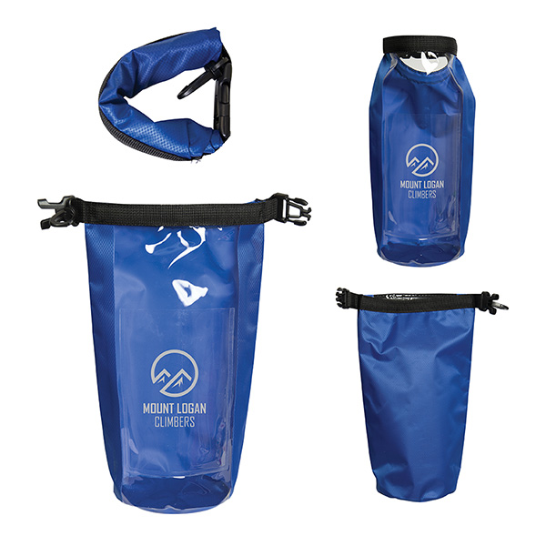 Backpaddle 2l Waterproof Wet/Dry Bag, TG9651, 1 Colour Imprint