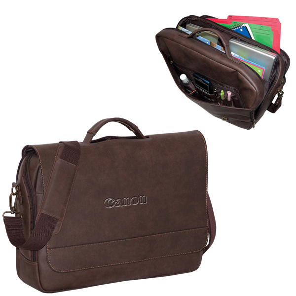 Premium Bonded Leather Laptop Brief, BL7261, 1 Colour Imprint