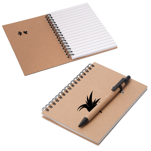 Kelowna Cardboard Notebook, CA8634, 1 Colour Imprint
