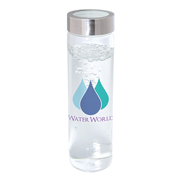 600 Ml. (20 Fl. Oz.) Single Wall Borosilicate Glass Bottle, WB1503, 1 Colour Imprint
