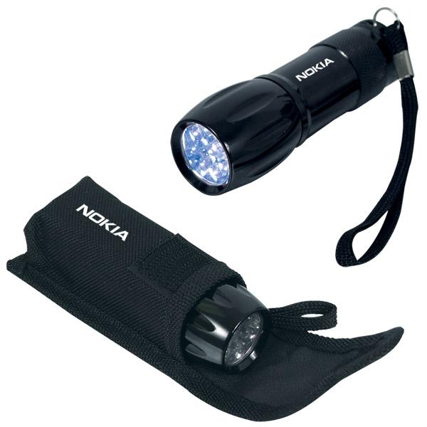 9 LED Mini Flashlight, FL4097, 1 Colour Imprint