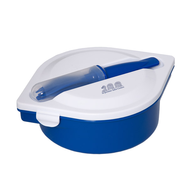 Munch N' Go Lunch Container With Cutlery, KP8581, 1 Colour Imprint