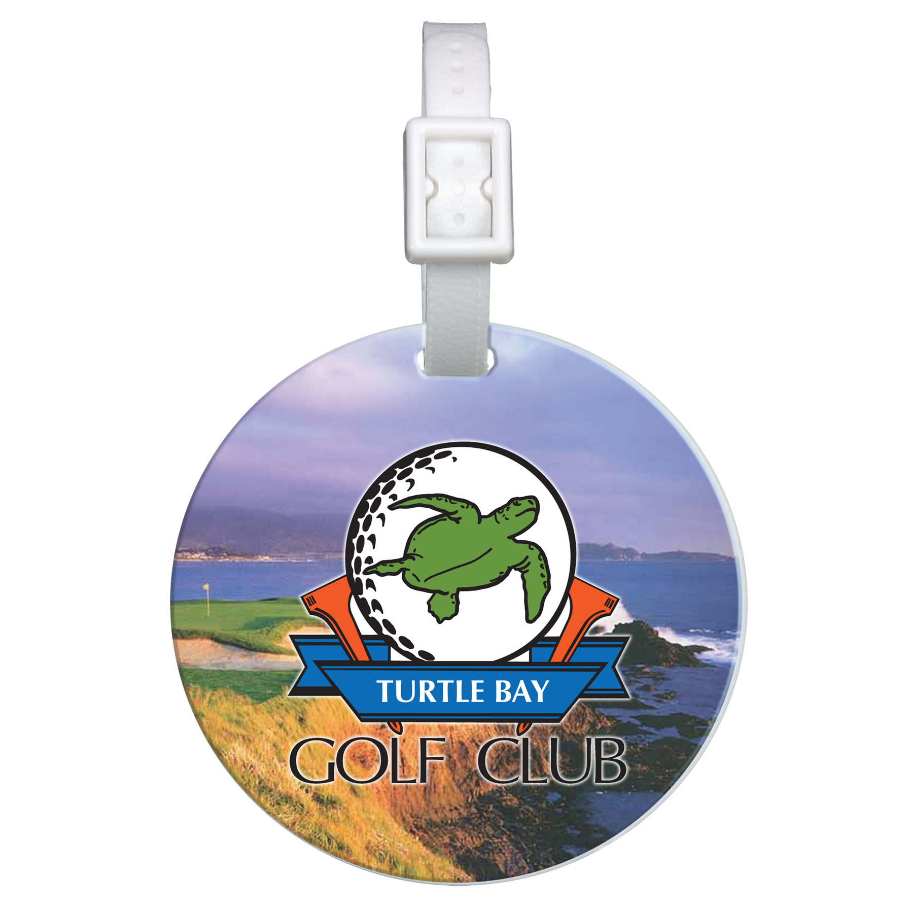 Domed Round Golf Bag Tag, 0315D-K, Full Colour Imprint