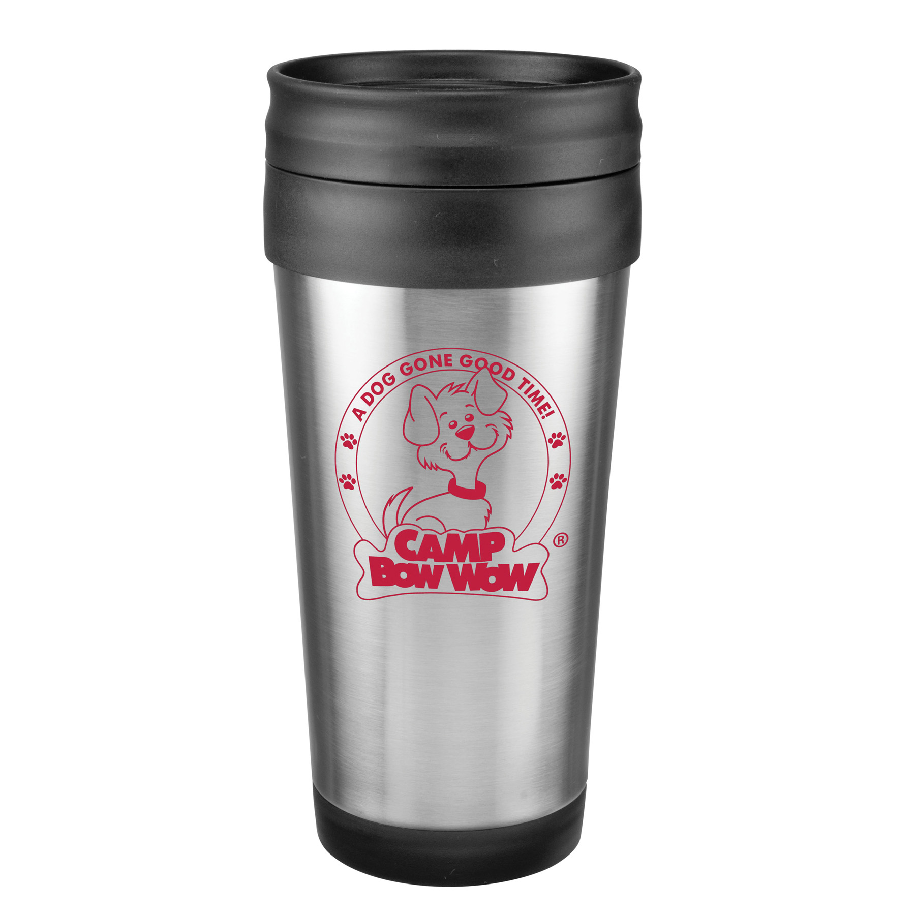 14 Oz. Stainless Steel Budget Tumbler w/ Slide 'n Sipp Lid, 326-K, One Colour Imprint