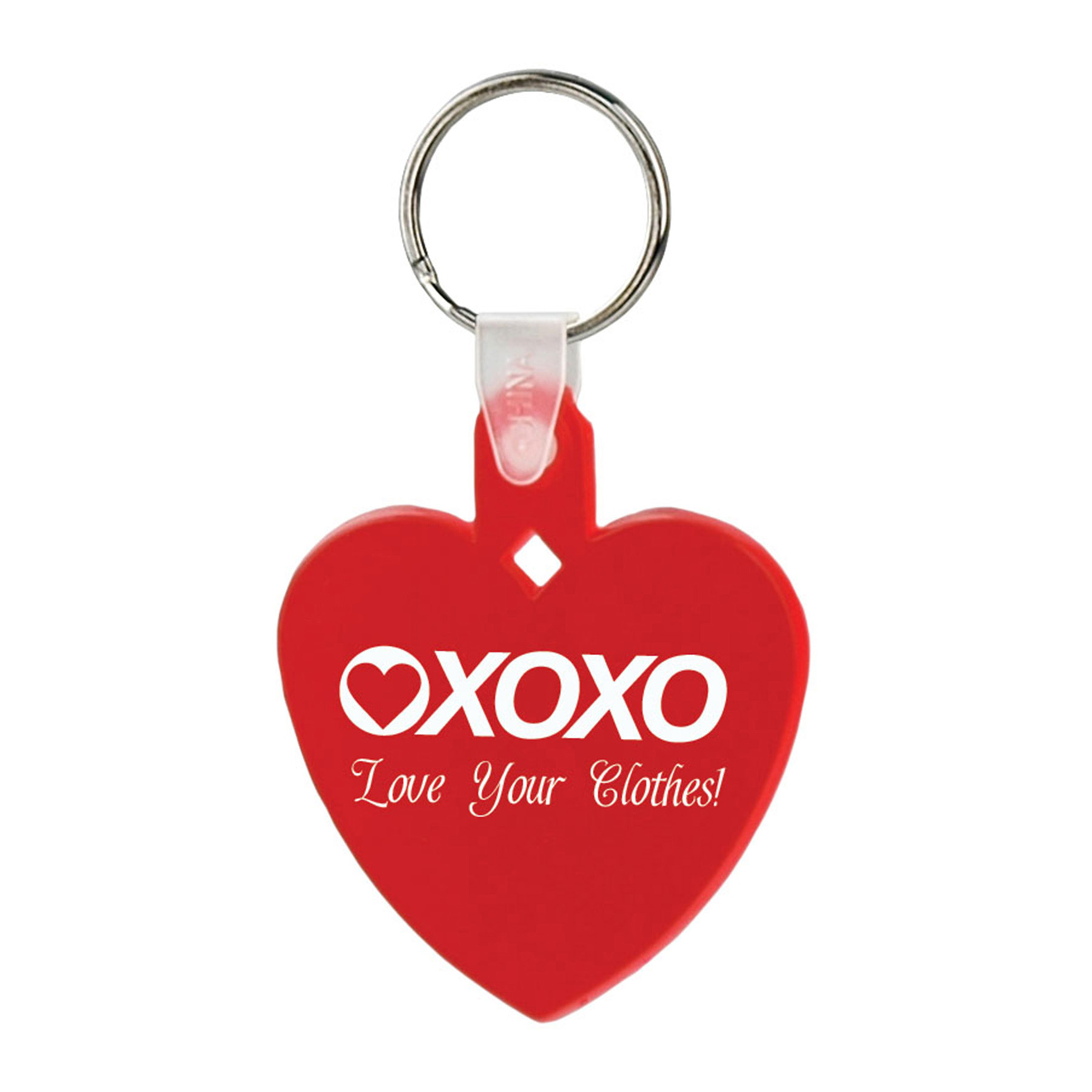 Soft Squeezable Key Tag (Heart), 2106-K, One Colour Imprint