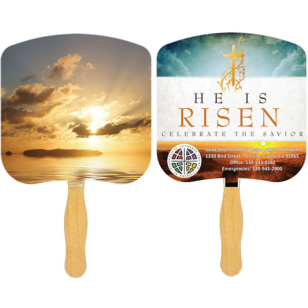 Religious Hand Fan/ Sunrise, FR109-4-K, Full Colour Imprint