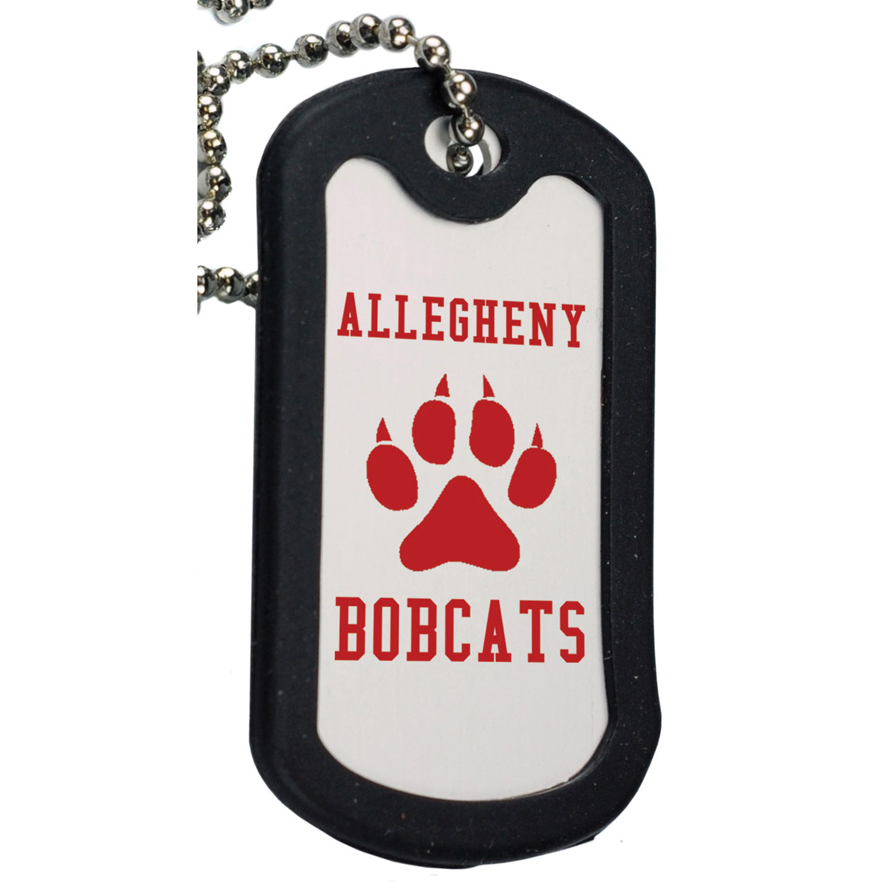 Anodized Aluminum Dog Tag w/ Black Trim, 143-K, One Colour Imprint