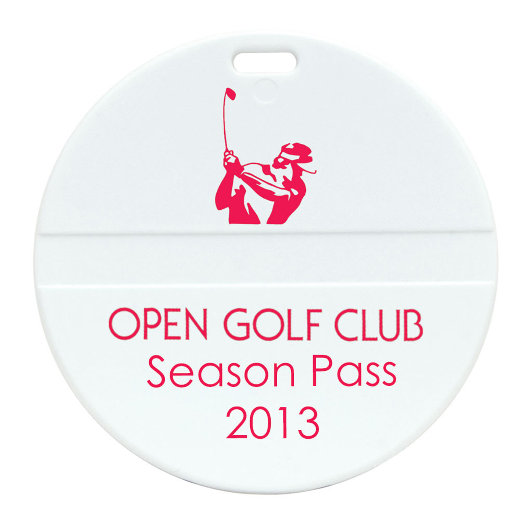 Round Golf Bag Tag, 315-K, One Colour Imprint