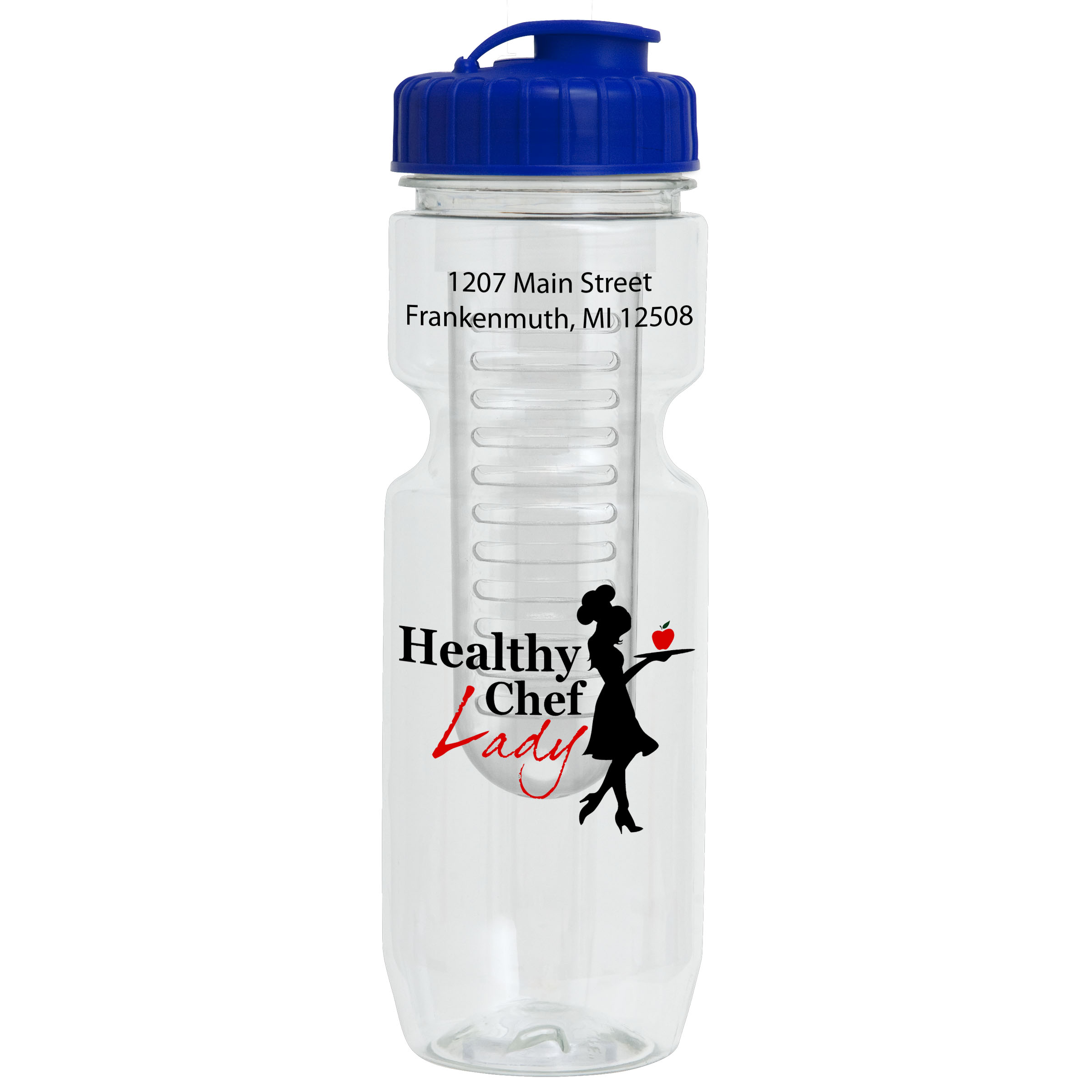 22 Oz. Bike Bottle with Infuser, 0317I-K, One Colour Imprint