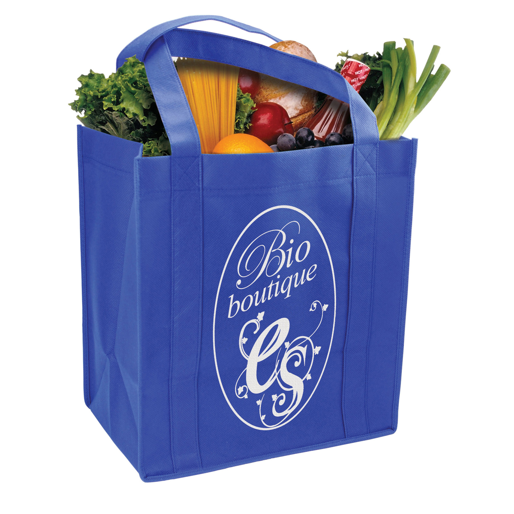 Grocery Tote With Reinforced Base, GT101-K, One Colour Imprint