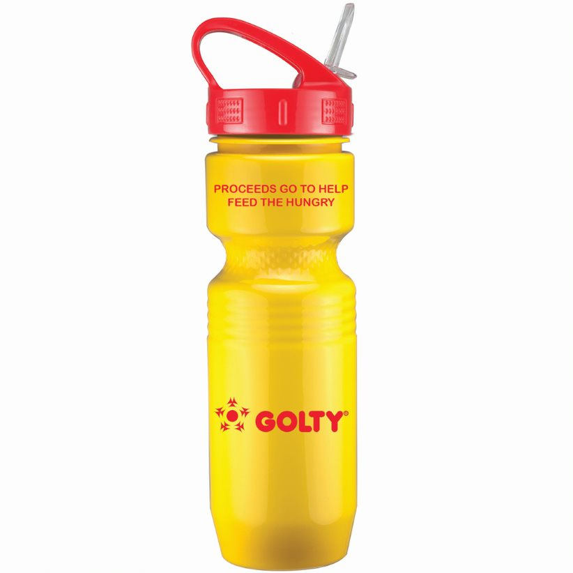 26 Oz. Jogger Bottle w/ Sport Sip Lid with Straw - Solid Colors, 0300S-K, One Colour Imprint