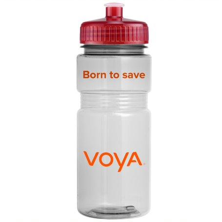 20 Oz. Translucent Recreation Bottle w/ Push Pull Lid, 402-K, One Colour Imprint